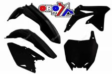 New RMZ 450 08-16 Racetech Plastic Kit Motocross Plastics Black